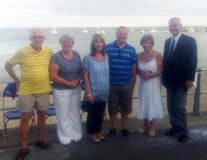 Mark flanked by his wife and mother, with Tony & Margaret Greenham (L) and MD John Powell (R)